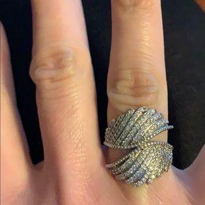 925 Sterling Silver Angel wings ring